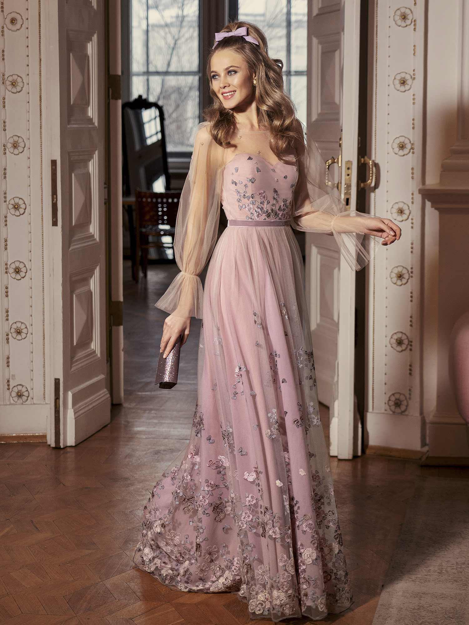 2021 Uzun Kollu Abiye Elbise Modelleri6 Alimli Kadin